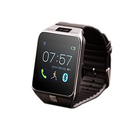 fenguh Plata R5 Bluetooth 4.0 Reloj Inteligente Smartwatch Llamar Gratis Mensaje Reloj Teléfono Inteligente Pasómetro para