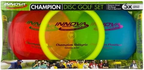 Innova Champion Disc Golf Set – Driver, Mid-Range & Putter, 150 Grams Each, Colors May Vary (3 Pack), Colors Vary, ICD-1 best disc golf set