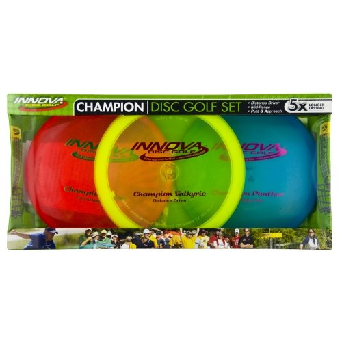 Innova Champion Disc Golf Set - Driver, Mid-Range & Putter, 150 Grams Each, Colors May Vary (3 Pack) by Innova - Champion Discs