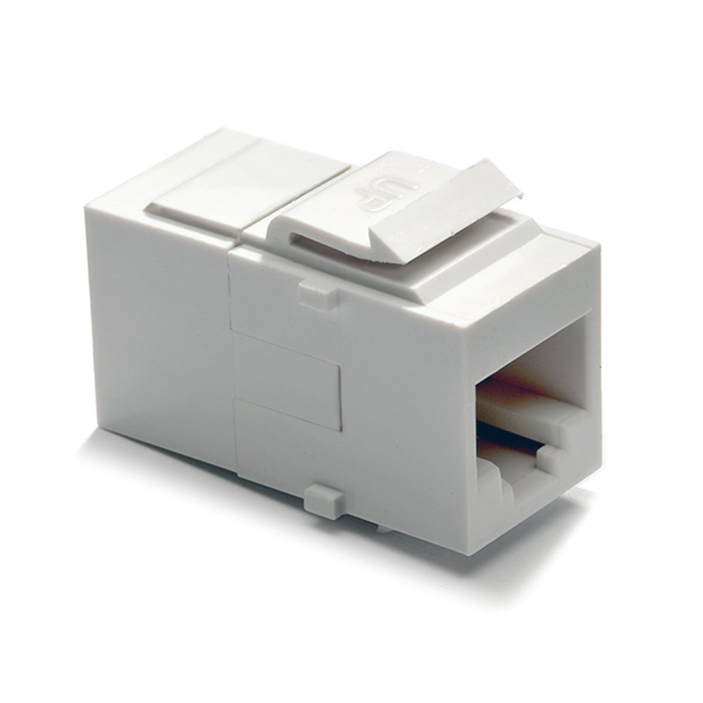 Legrand - On-Q Cat 6 Coupler, Keystone Insert, White, WP3452WHV1 - Plug  Adapters - Amazon.com