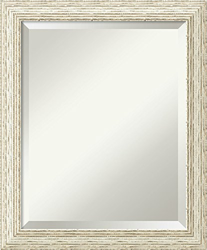 Bathroom Mirror Medium,  Cape Cod White Wash: Outer Size 20 x 24