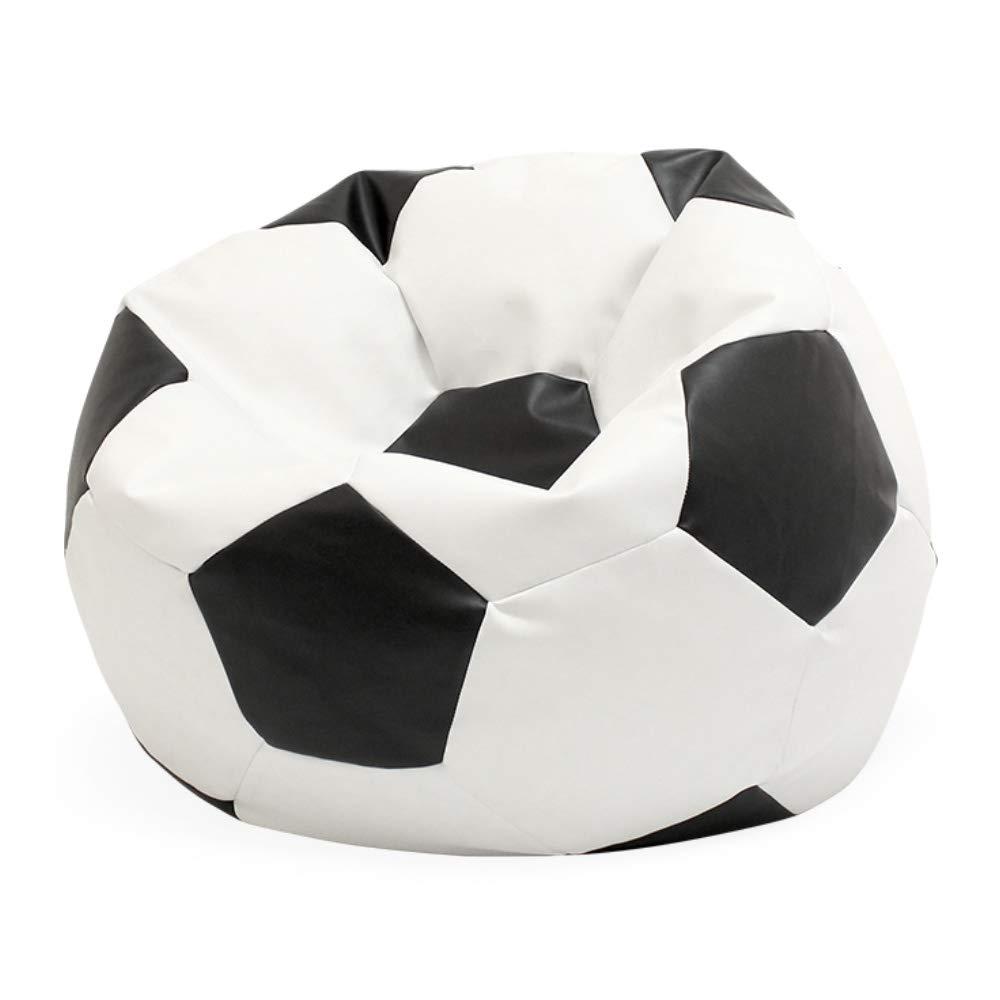idealpuf Puff Pelota de fútbol en Blanco y Negro de 70x70 cm niños ...