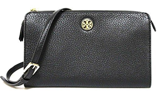 TORY BURCH BRODY PEBBLED LEATHER WALLET CROSSBODY WOMEN'S ()