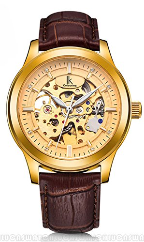 Fanmis-Brown-Leather-Strap-Waterproof-Automatic-Mechanical-Skeleton-Gold-Mens-Watches