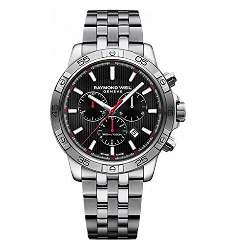 Raymond Weil Men's 'Tango' Quartz and Stainless Steel Diving Watch, Color:Silver-Toned (Model: 8560-ST2-20001)