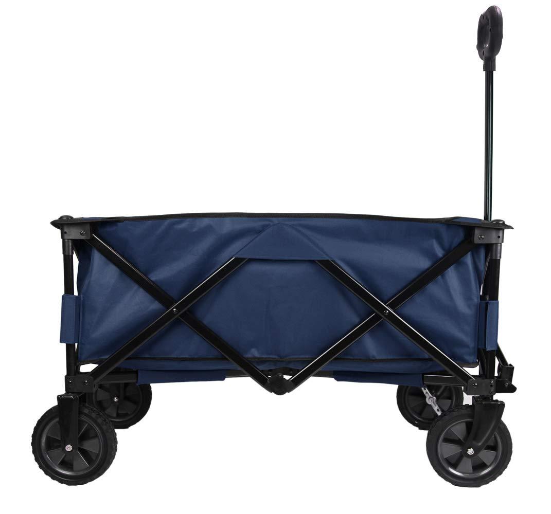 PATIO WATCHER Collapsible Folding Wagon Utility Wagon Cart Outdoor Garden Camping Wagon Sports Wagon Heavy Duty, Blue by PATIO WATCHER