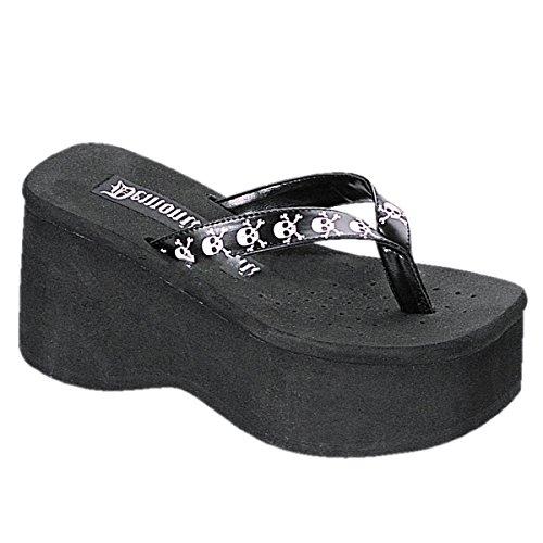 Demonia Funn-17 - Gothic Plateau Flip Flop Schuhe 36-41
