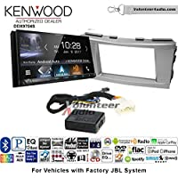 Volunteer Audio Kenwood DDX9704S Double Din Radio Install Kit with Apple Carplay Android Auto Fits 2007-2011 Toyota Camry with Amplified System (Silver)