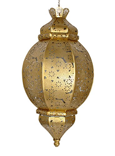 Metal Morrocan Lanterns Hanging Lights Decorative Lamp for Patio,Outside/Christmas Home Decor by Lalhaveli