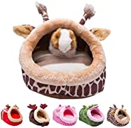 Orangdogo Guinea Pig Bed Accessories Cage Toys Warm Small Animal Pet Bed House for Hedgehog Chinchilla Rabbit