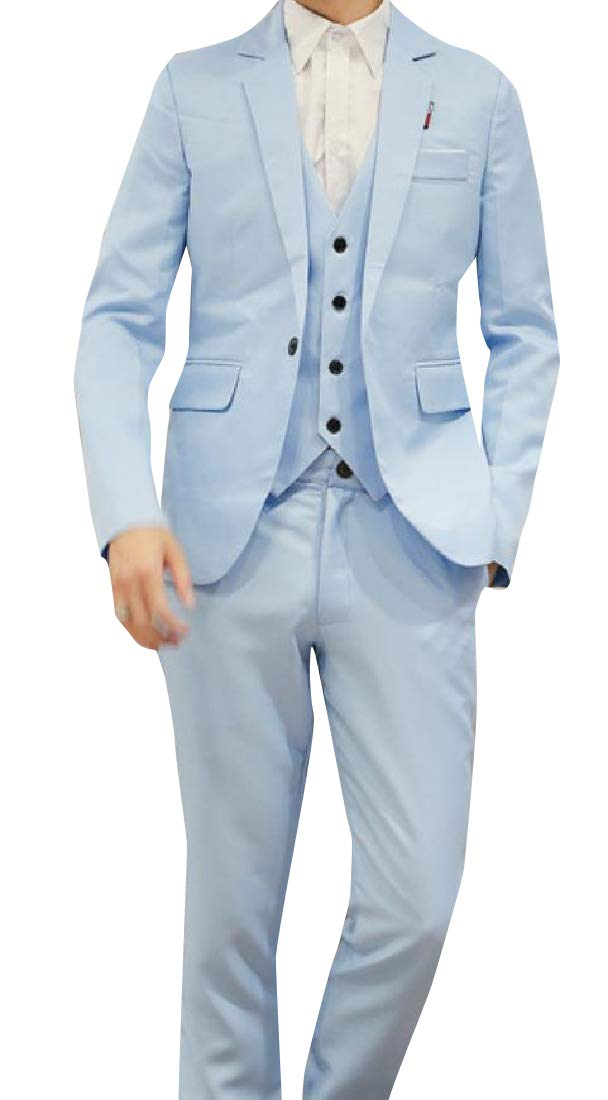 Winwinus Men Performance Tuxedo Suit Tux Vest Suit Pants 3 Piece Set