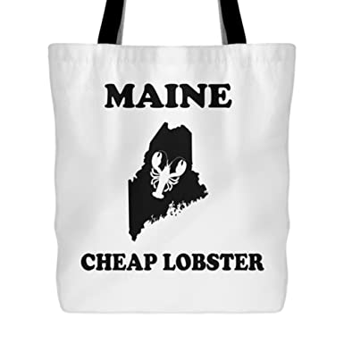 e041b68d1f Image Unavailable. Image not available for. Color  Maine Cheap Lobster Tote  Bag ...