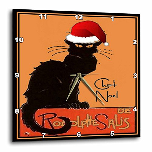 3dRose Le Chat Noel Advertising, Art Nouveau, Black Cat,