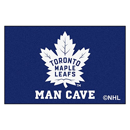 (FANMATS 14494 NHL Toronto Maple Leafs Nylon Universal Man Cave Starter Rug)