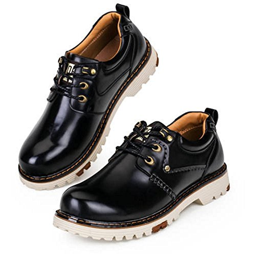 Taoffen Herenmode Lage Schoenen Chukka-laarzen Lace Up Zwart