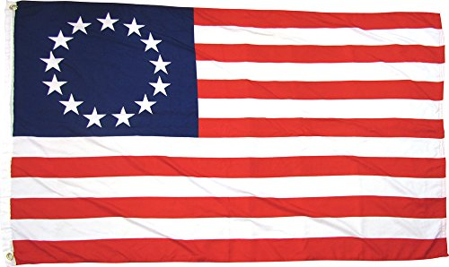 Betsy Ross 13 Star USA American 3x5 Feet Flag by TrendyLuz Flags