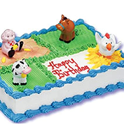 Astounding Bakery Crafts Farm Animal Cake Toppers Amazon Co Uk Kitchen Home Funny Birthday Cards Online Alyptdamsfinfo