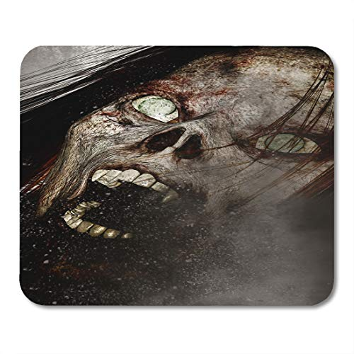 Emvency Mouse Pads Halloween 3D of Scary Ghost Woman Horror Mixed Media Movie 3Dillustration Mouse pad 9.5