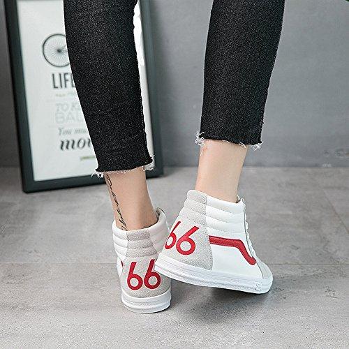 EUR37 Los Las Mujeres Uso Deportes Zapatos Alta de de Zapatos de negro de de de Zapatos Zapatos el Casuales Corbata Mujeres Encaje Las Antideslizantes gRnS7qfww
