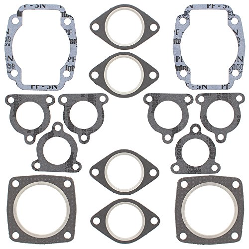 Arctic Cat Jag 440 - New Winderosa Full Top Gasket Set for Arctic Cat Jag Deluxe 1990-1996, Jag Z 1993, Panther 440 1980 1981 1982 1983 1984 1985 1989 1990 1991 1992 1993 1994 1995, Panther Rental 1995