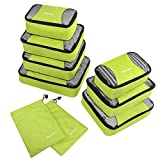 Gonex Rip-Stop Nylon Travel Organizers Packing Bags Light Green