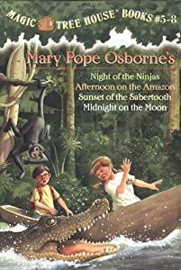 Magic Tree House Boxed Set, Books 5-8: Night of the Ninjas, Afternoon on the Amazon, Sunset of the Sabertooth, and Midnight on the Moon from Random House Books for Young Readers