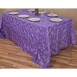 "LinenTablecloth Rectangular Pinwheel Tablecloth, Lavender, 90"" x 132"""