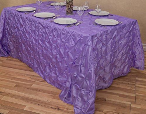 LinenTablecloth Rectangular Pinwheel Tablecloth, Lavender, 9