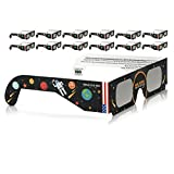 Solar Eclipse Glasses CE and ISO Certified - Safe Solar Viewing - Viewer and Filter - Made in USA (12 Pack) - Astronaut
