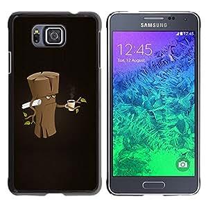 YiPhone /// Prima de resorte delgada de la cubierta del caso de Shell Armor - Funny Grumpy Morning Wood - Samsung GALAXY ALPHA G850