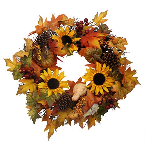 Brown Artificial Wreath - famibay 20