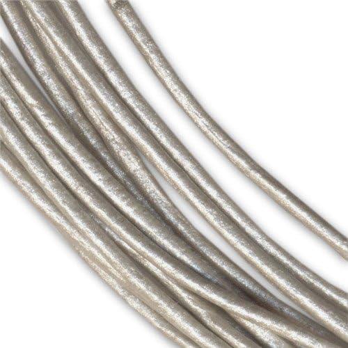 Lederband 1mm Grau Metallic x 3m