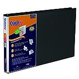 QuickFit 1-Inch Ledger Binder, 11' x 17' Landscape, Locking D-Ring, Black (94011)