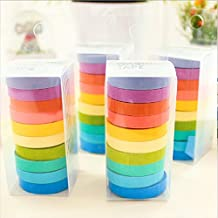 Bargain House DIY Decorative Rainbow Paper Tape Sticky Paper Masking Adhesive Tape Scrapbooking