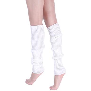 Ymysfit Femme Hiver Guêtres Chaussettes Chaud Collant Jambière Tricoté  Crochet Leggings Neige pour Fête Noël Noir 3c1ff4c8a40