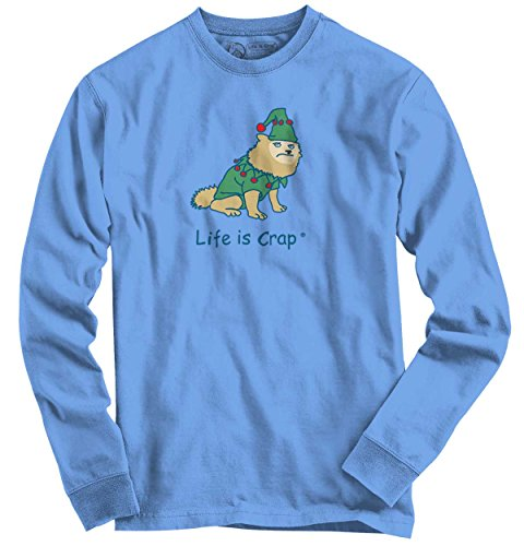 [Life Is Crap Dog Costume Good Life Funny Shirts Gift Ideas Long Sleeve T] (Hilarious Costumes Ideas)