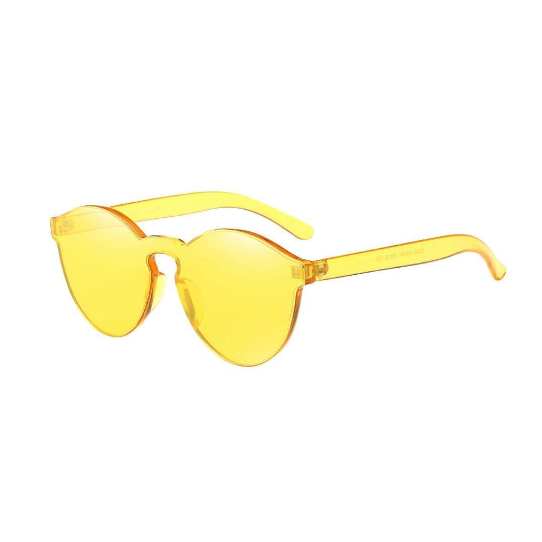 Siviki Hot sale!!!Fashion Womens Cat Eye Shades Sunglasses Integrated UV Candy Colored Glasses