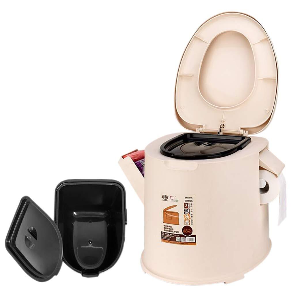LIU UK Portable Toilet Tragbares Toiletten-äLteres Schwangere Kinder Der Kinder Einfaches Toilettensitzpolypropylen-Plastikmaterial Stabile Und Starke Abnehmbare Toilette