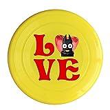 Bro-Custom Love Bat Big Eyes Image Ultimate Frisbee For Girl Yellow