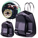 Pro Image Auto Visor Eye Glasses Clip Sunglass Holder for Car, Air Vent of Vehicles (2 Pack) Universal & Durable, Black, Clip for Cards. Cash Money, Tickets & More