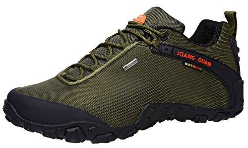 XIANG GUAN Men's Outdoor Low-Top Oxford Lightweight Trekking Hiking Shoes Green ()