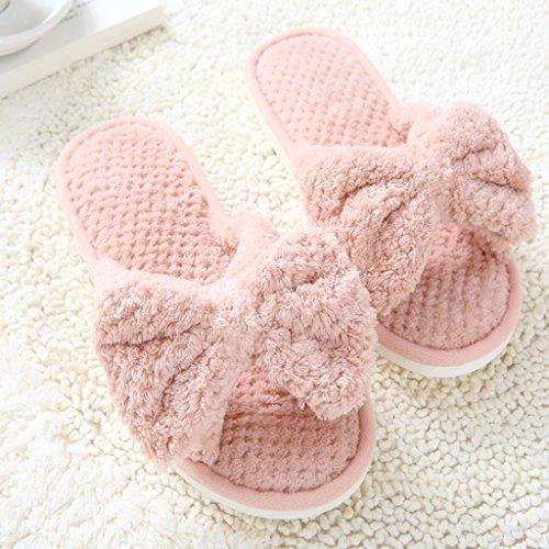 Pantoufles Femelle Chaud prape Accueil Garder Antidérapant Souple Automne Au light Semelle Hiver pink Et wCzxwPvqf