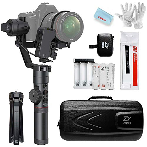 (Zhiyun Crane 2 3-Axis Handheld Gimbal Stabilizer (with Free Servo Follow Focus) for Sony Canon Nikon DSLR Camera Weighing 1.1lb to 7lb,18 Hours Runtime 1 Min Toolless Balance Adjustment (Crane 2))