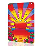 Metal Sign Peter Max Sunshine Amazing Poster Decor Wall Art Retro Vintage Psychedelic Rusted