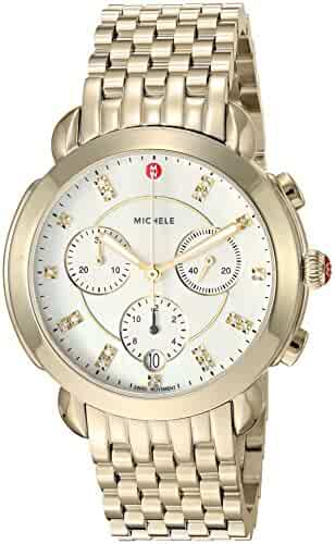 Michele Women's Swiss Quartz Stainless Steel Casual Watch, Color:Gold-Toned (Model: MWW30A000019)