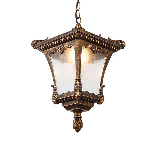 Vintage Edison E27 - Lámpara de techo para exterior, uso interior ...