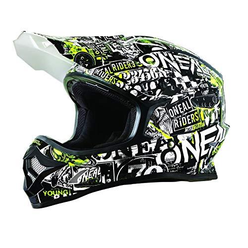 ONeal Unisex-Adult Off-Road Style 3 SRS Helmet Attack BLK/HI-VIZ L (Large)