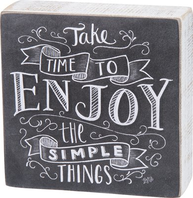 Enjoy The Simple Things Chalk Box Sign