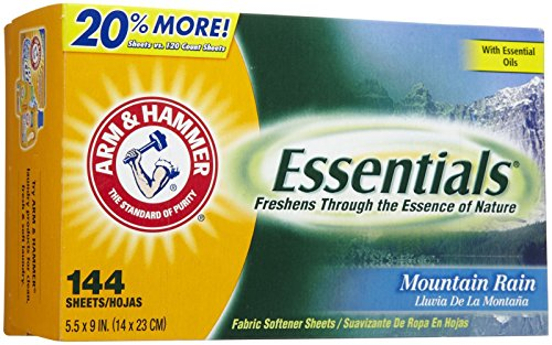Dryer Infused (Arm & Hammer Dryer Sheets - Mountain Rain - 144 ct)