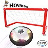 Toyk Kids Toys - LED Hover Ball Set 2 Goals Mini Screwdriver - Air Power Training Ball Playing Football Game - Soccer Toys for 1 2 3 4 5 6 7 8 9 10 11 12 Year Old Boys Girls Best Gift